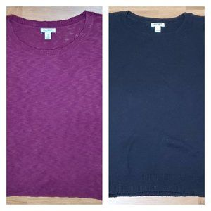 Lot of 2 Old Navy Knit 3/4 Sleeve Scoop Neck Tops